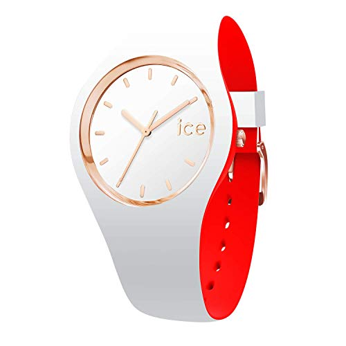 Ice-Watch - ICE loulou White Rose-Gold - Women's wristwatch with silicon strap - 007230 (Small)