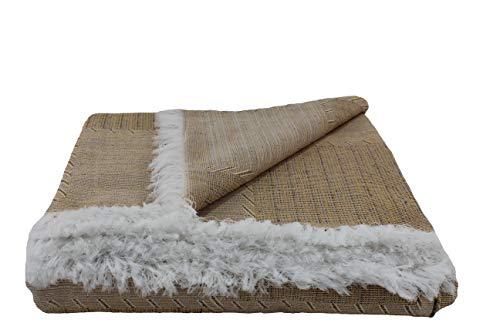 Desconocido Colcha Multiusos para Sofa, Manta Foulard, Plaid, cubrecama. (Camel, 230x290)