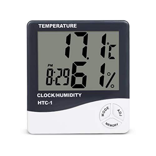 Station météorologique ° C / ° F Thermomètre Multifonctionnel intérieur/extérieur Hygromètre Humidimètre Numérique LCD Réveils Horloges de Surveillance météorologique