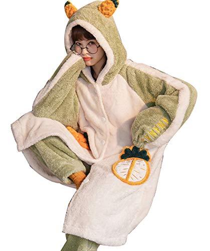 RHSML Conjuntos De Pijama para Mujer Conjunto De Pijama De Felpa Polar para Mujer Ropa Deportiva Jersey De Manga Larga Pantalones Deportivos Pijamas Cálidos Y Casuales (XL, B)