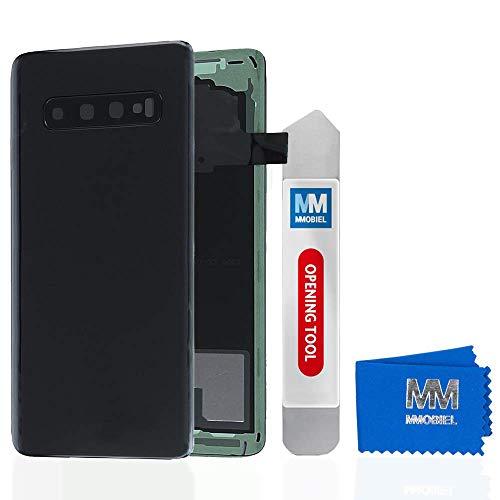 MMOBIEL Backcover Akkudeckel Rückseite Rück Klappe kompatibel mit Samsung Galaxy S10 G73F 2019 6.1 Inch (Prism Black/Schwarz)