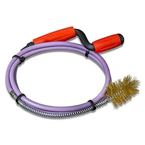 Nirox Rohrreinigungsspirale 8mm x 1,4m - Rohrspirale mit fester Draht-Bürste - Rohrreinigungswelle ideal für das Entfernen von Haaren und Verschmutzungen