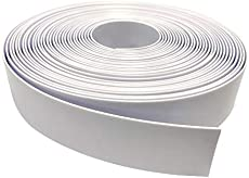 """2\\"""" Wide Vinyl Strap for Patio Pool Lawn Garden Furniture 20' Roll_ Make Your Own Replacement Straps. Plus - 20 Free Fasteners! (201 White)"""