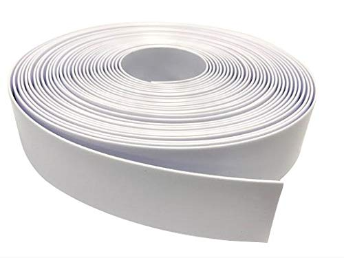 2' Wide x 200' Roll Vinyl Strap for Patio Pool Lawn Garden Furniture- Make Your Own Replacement Straps. (201 White)
