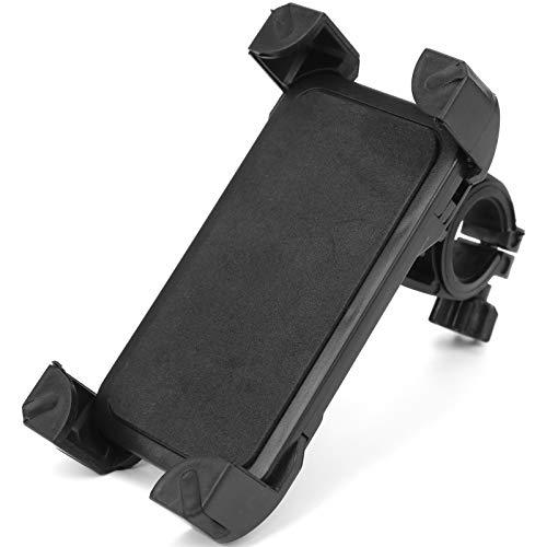 Suporte para telefone de bicicleta, trava dupla ajustável de 360 graus e braçadeira giratória para telefone com almofada de canto para smartphones para GPS
