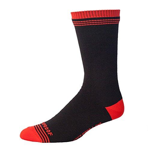 douches Pass pour Homme Crosspoint WP Crew Chaussettes étanche, Rouge/Noir, 2 x L/Taille UK 11.5–14.4