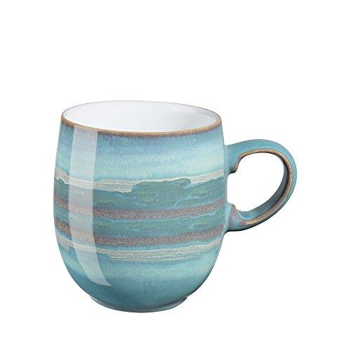 Denby Azure Coast Speiseteller Set mit 4 großen Tassen