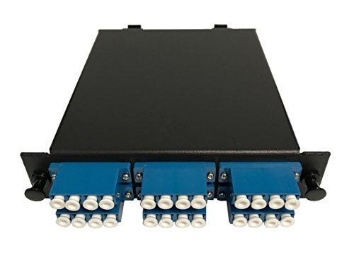 RiteAV LGx Fußabdruck vorkonfektionierten MTP-Kassette–MTP Stecker, 24Fasern auf LC Quad Singlemodefasern Adapter, inkl. 12LC Singlemodefasern Hydra Kabel (30cm, ofnr) + 1MTP Adapter