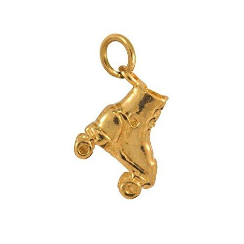 Sayers London 9 Karat (375) Gelbgold Rollschuh Charm Anhänger