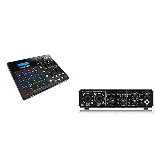 AKAI Professional MPD 226Controlador USB MIDI ultra-portátil con 16 pads estilo MPC + Behringer U-PHORIA UMC204HD Interface de audio/midi usb