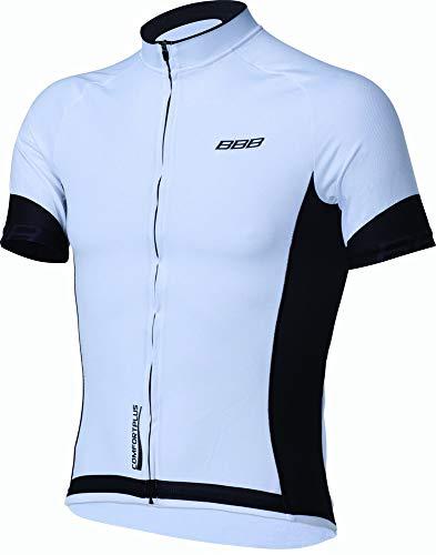 BBB Cycling Fahrradtrikot Herren Comfortfit Kurzarm Fahrrad Shirt BBW-246, Weiss/Schwarz, XXXL