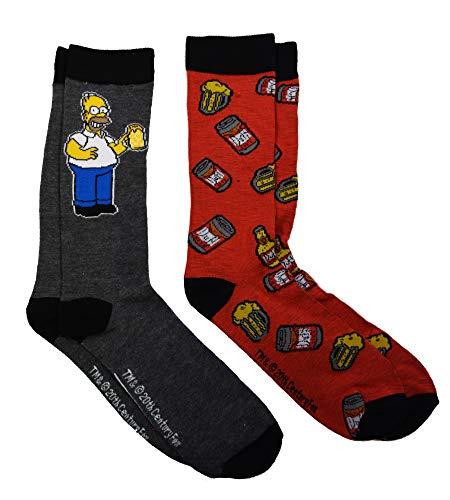 The Simpsons Homer Duff Beer Herren-Socken, 2er-Pack