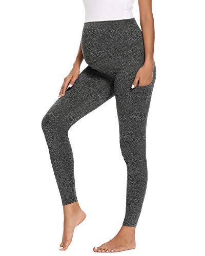 Ecavus Women's Maternity Comfy Palazzo Lounge Pants Stretch Pregnancy Shorts...