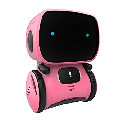 98K Kids Robot Toy, Smart Talking Robots, Gift for Boys and Girls Age 3+, Intelligent Partner and Teacher, with Voice Controlled and Touch Sensor, Singing, Dancing, Repeating by 98K
