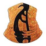 Lawenp Calentador de cuello de hombre abstracto de estilo indio, bufanda de cara sin costuras a prueba de polvo Bandana pasamontañas Sombreros Polaina de cuello a prueba de viento Headwrao