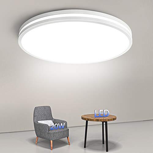 Badezimmer Lampe 20W, Airand Deckenlampe Led Deckenleuchte Rund 4000K Neutralweiß, Flimmerfreie Badleuchte IP44 Wasserdicht Badlampe Decke 1850LM für Badezimmer Küche Balkon Flur Schlafzimmer Büro usw