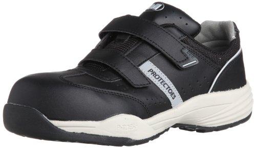 [ミドリ安全] 安全作業靴 JSAA認定 マジックタイプ プロスニーカー プロテクトウズ5 PF115 メンズ ブラック 27.5