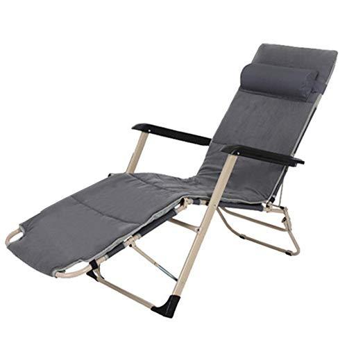 Lounge Add Acolchado Asiento De Silla De Gravedad Cero Ajustable, Sillones De Salón Plegables Al Aire Libre Soporte 150kg, Sillones De Salón Al Aire Libre Portátiles