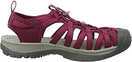 KEEN Women's Whisper Sandal, Beet Red/Honeysuckle, 10 M US