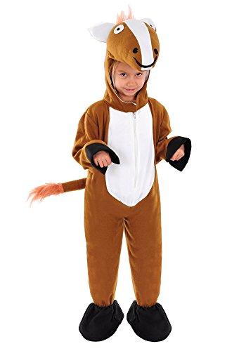 Pferd Kinder Kostüm 110 - 116 für Fasching Karneval Kinderkostüm