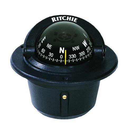 Ritchie Explorer Flush Mount Compass, Black (F-50)