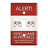 GRAPHICS & MORE Alert Video Game in Progress Unauthorized Entry Eliminated Plastic Wall Decor Toggle Light Switch Plate Cover