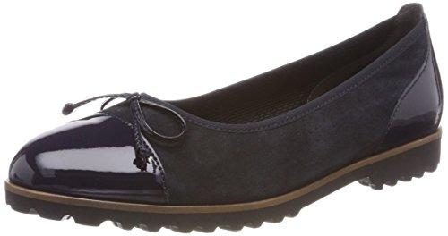 Gabor Shoes Gabor Jollys, Ballerines Femme, Bleu (Pazifik Cognac), 37 EU
