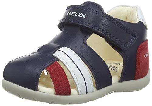 Geox Baby Jungen B Kaytan B Sandalen, Blau (Navy/Red C0735), 24 EU