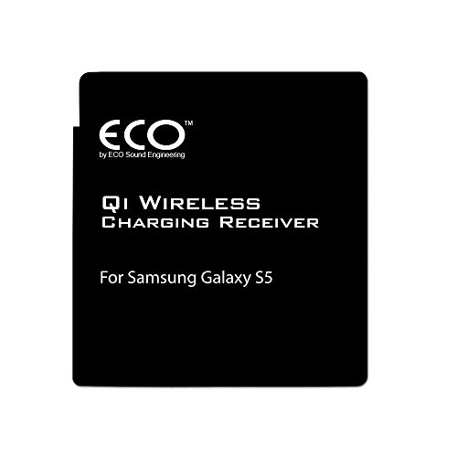ECO Sound Engineering Samsung Galaxy S5 Qi Wireless Charging Receiver - Makes the S5 QI-Enabled upon Installation - Black