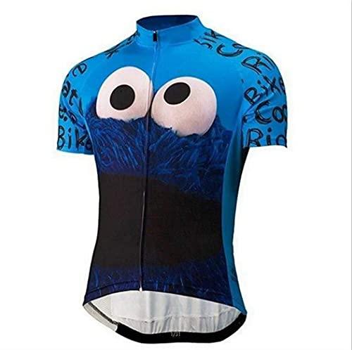 Sly Sun Ride Bike, Eat Cookie! Camisa de ciclismo masculina, Azul, Small