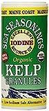 Sal con Yodo natural de algas kelp (quelpo) un alga natural - alternativa baja en sodio para la sal