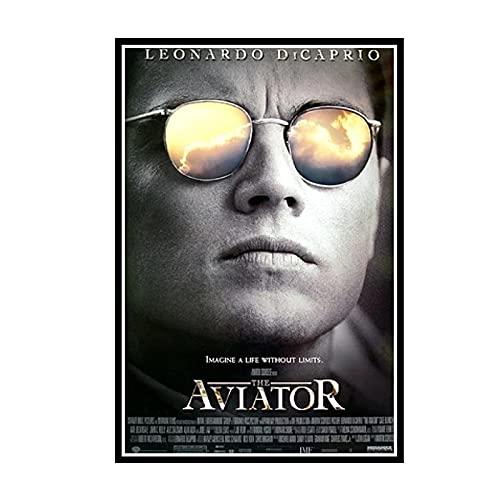 Yoopa Película El aviador Leonardo Dicaprio Impresión en lienzo Pared Decoración para el hogar Arte moderno Casa Inspiración Decoración-50X70 CM Sin marco 1 Uds