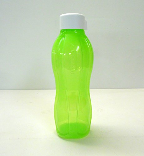 TUPPERWARE To Go Eco 1,0L Trinkflasche EcoEasy C138 Flasche Öko Ökoflasche limette Schraubverschluß weiß