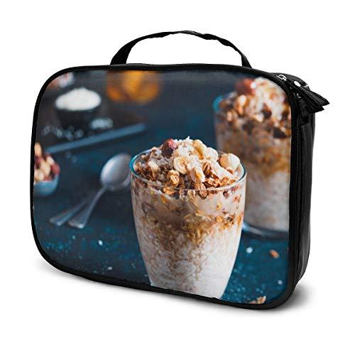 Kosmetiktaschen für Frauen Reisen, Lebkuchen Kokosnuss Übernachtung Haferflocken serviert mit Müsli, Pekannuss, Honig Federmäppchen