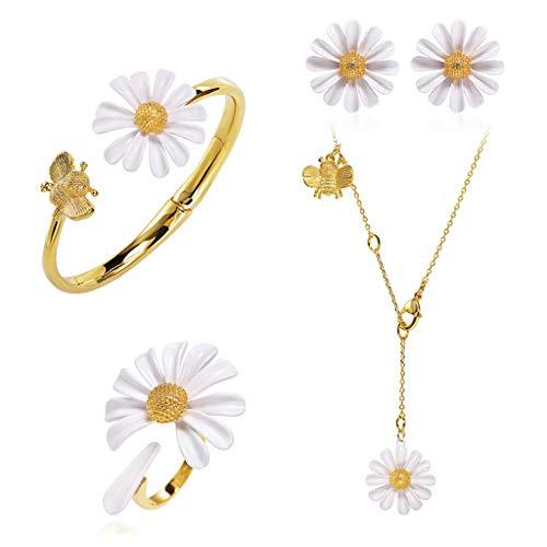 LTCTL Collar Collar Colgante De Decoración De Daisy, Collar Conjunto De Clavícula De Las Damas, Regalo De Cumpleaños, Regalo del Día De La Madre, Regalo del Día De San Valentín Regalo Collar