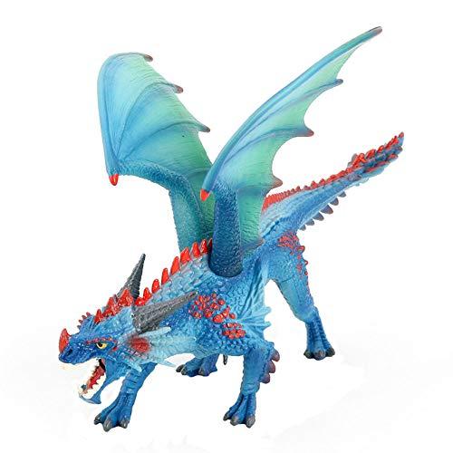 JOKFEICE Dinosaurie leksak realistisk flygande drake djurfigurer vetenskapligt projekt, tårtdekoration, tidig pedagogisk leksak födelsedag för småbarn barn ålder 3 4 5 (blå)