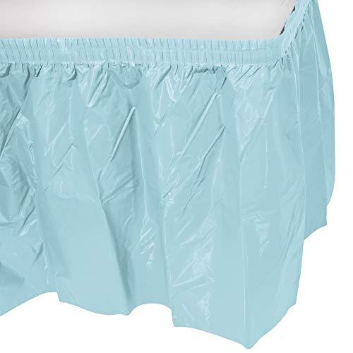 Creative Converting Plastic Table Skirt, 14-Feet, Pastello Blu