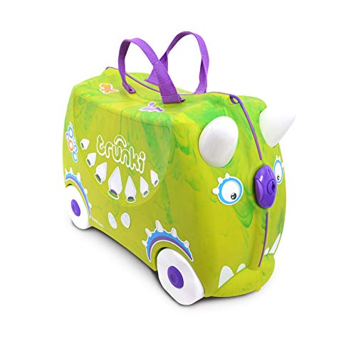 Trunki Children's Ride-On Suitcase & Hand Luggage: Trunkisaurus Rex (Green)