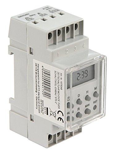 MC POWER - digitale Zeitschaltuhr | STE-2 | digital, 7 Tage, 230V, 16A, für Schalttafel-Einbau, 3.500W