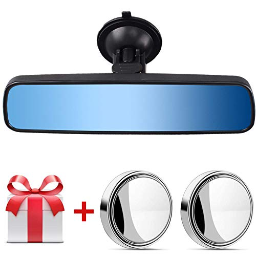 Heart Horse Anti Glare Rear View Mirror,Wide Angle Rearview Mirror,Universal Suction Cup Blind Spot Mirror Set,Eliminate Blind Spots for Car Truck SUV 9.65""
