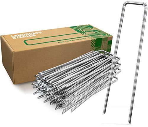 GardenGloss® Anti-Rost Erdanker aus Stahl für Extrem Harten Boden (25 Stück) - 200 MM Lang, 25 MM Breit, Ø 3.8 MM
