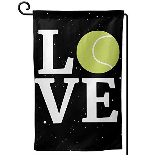 AllenPrint Home Garden Flag,Liebe Tennisball Hausgarten Flagge, Premium Hausgarten Banner Für Willkommensdekoration,32x45.7cm