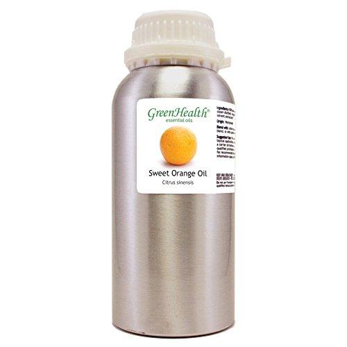 GreenHealth Sweet Orange – 32 fl oz (946 ml) Aluminum Bottle w/Plug Cap – 100% Pure Essential Oil