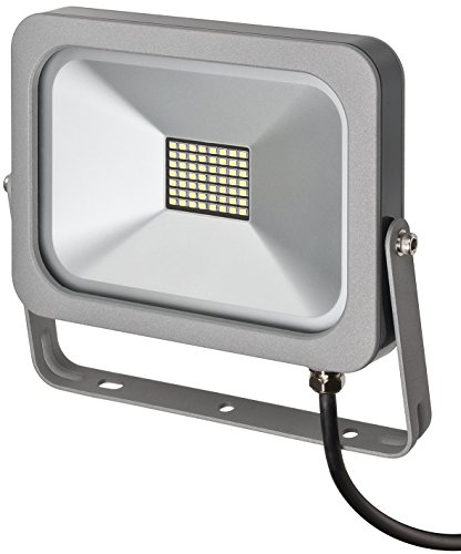 Brennenstuhl Slim außen LED-Strahler (30 W, zur Wandmontage, IP54, LED-Fluter) silber