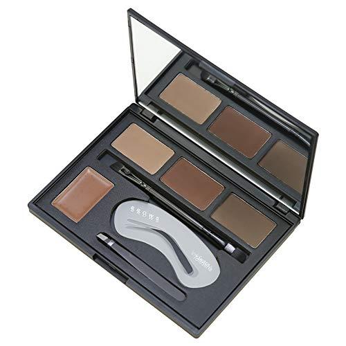 Beito 1PACK Kit professionnel de sourcils de maquillage 4 nuances poudres sourcils Multifonctionnel palette de sourcils Maquillage des yeux avec miroir Brucelles Browezer Brow Duo Inclus
