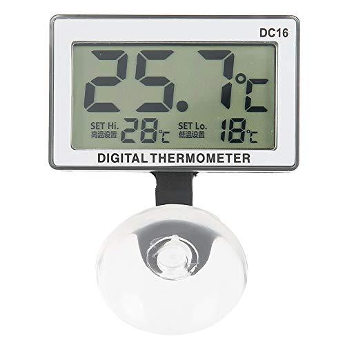 Ventosa acuática Termómetro de Buceo para Acuario Cúpula Sumergible para peceras Mini Alarma de medidor de Temperatura Equipo acuático