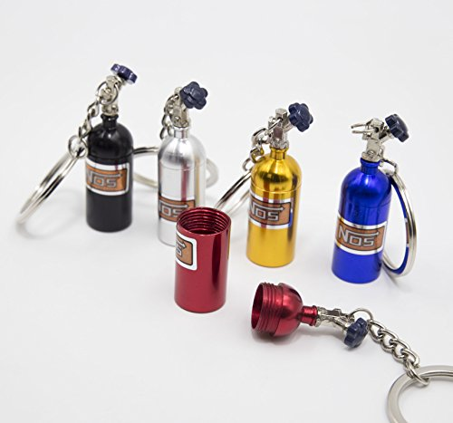 LIGHTKOREA 5Color 1Set Mini NOS Nitrous Oxide Bottle Creative Key Chain Keyring Key Holder