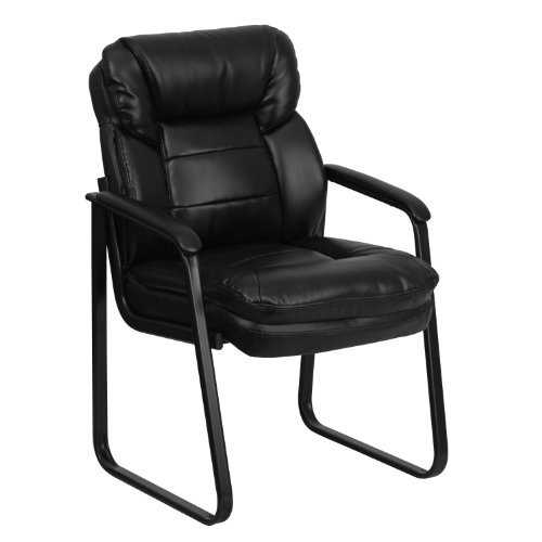 Flash Furniture Leather Side Chair, Black LeatherSoft