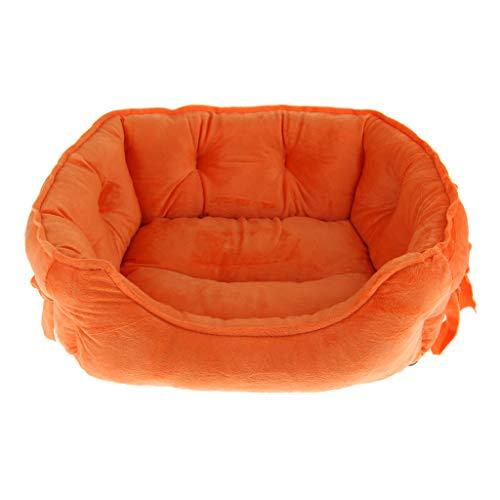 Hundebett Hundekorb Hundesofa Waschbarer Haustierkorb für Hunde und Katzen - Orange
