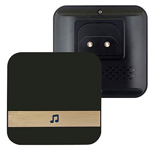 Queenser Campainha sem fio Chime Plug-in Doméstico Chime WiFi Ding-Dong Alarme Receptor de campainha inteligente para porta UE Plug-in